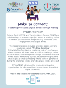 """""""Make to Connect"""" recruitment poster. Click on the image to view the .PDF with more information."""